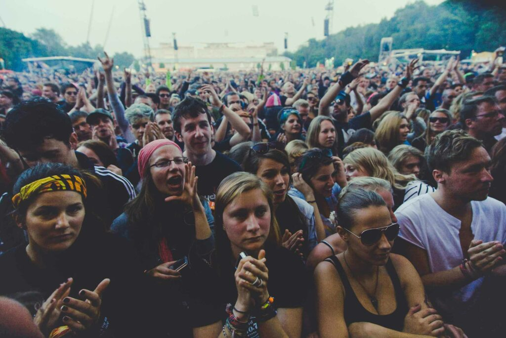 Crowd of people at the festival