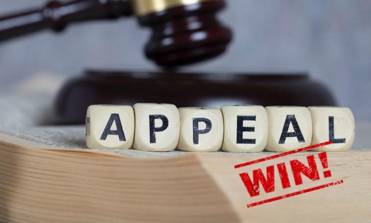 Appeal for murder sentence won